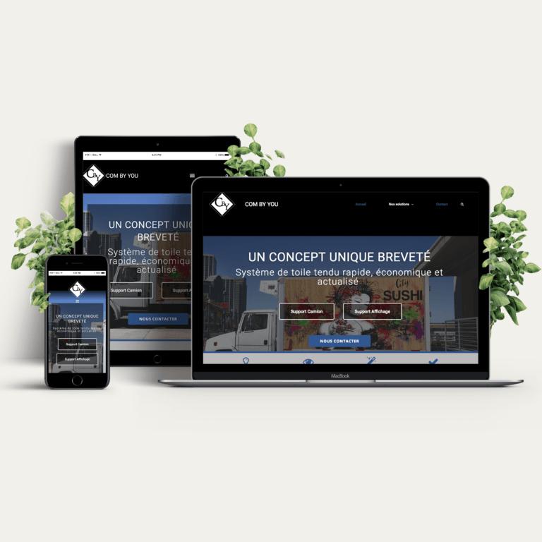 Creation site internet combyyou Paris, supup réalisation webdesign
