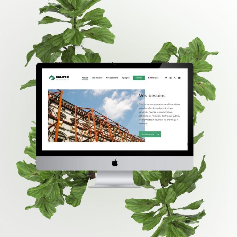 creation du contenu du site de calispo solutions website siteweb contenu sudupmarseille entreprise du sud